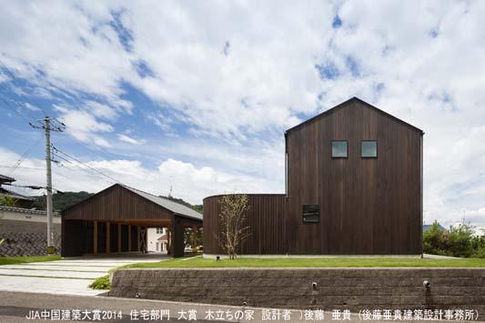 木立ちの家